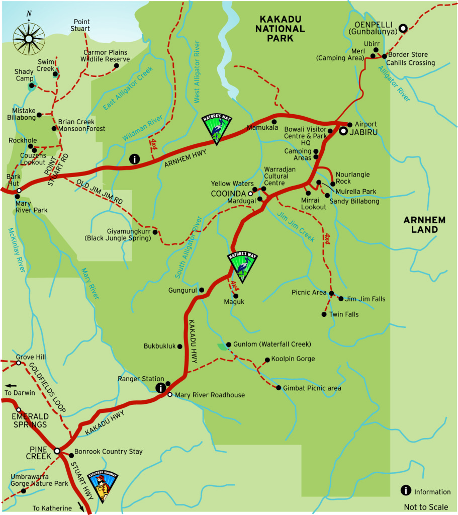 Map 9f Australia.Kakadu National Park Map Kakadu Tours Travel