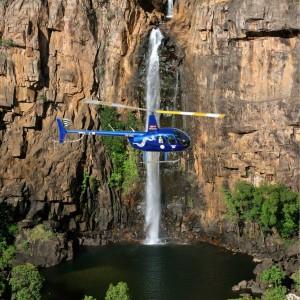 helicopter flying over Nitmiluk National Park